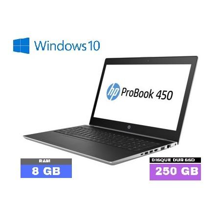 HP Probook 450 G5 Core i5 8ème Génération - GRADE D -  SSD - 8Go RAM  sous Windows 10  - N°012601