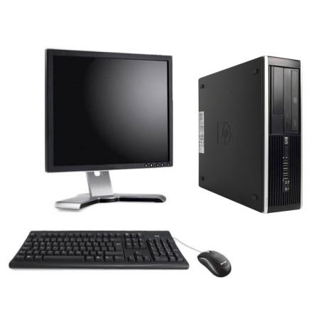 PC Complet UC HP 6200 PRO SMALL Sous Windows 7 - Core I3 - 4Go RAM AVEC ÉCRAN 17 POUCES CLAVIER ET SOURIS - N°013150