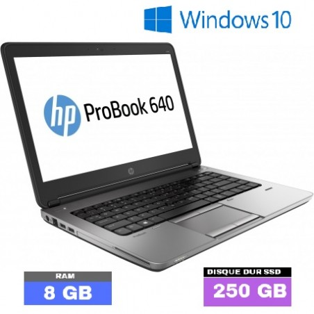 HP PROBOOK 640 G2 - Windows 10 - SSD - Core I5 - Ram 8 Go - N°022204