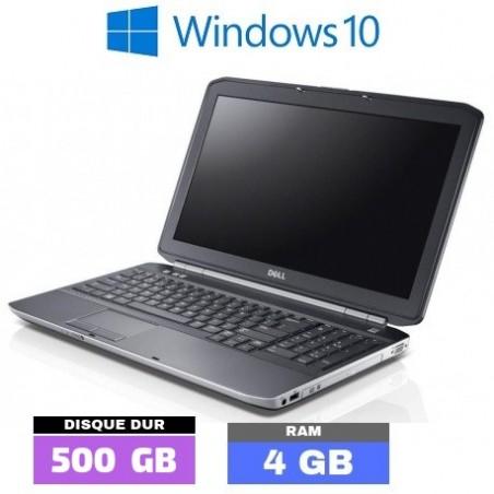 DELL LATITUDE E5530 - GRADE D - Windows 10 - Core I3 - Ram 4 Go - HDD 500 Go - N°031101