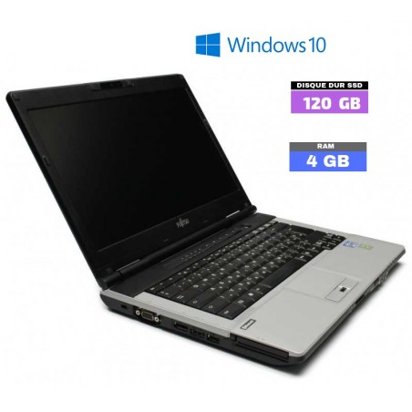 FUJITSU LIFEBOOK S751 CORE I3 - Windows 10 - SSD 120 Go - Ram 4 Go - Webcam - N°040101