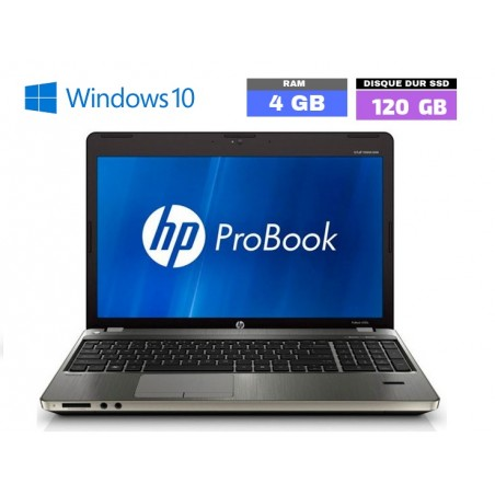 HP PROBOOK 4530S - Windows 10 - Ram 4 Go - SSD 120 Go - Webcam - Grade D - N°052701