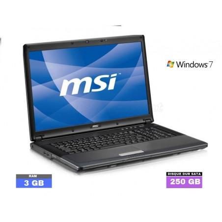 MSI CR700 sous Windows 7 - Ram 3 Go - WEBCAM - N°053102