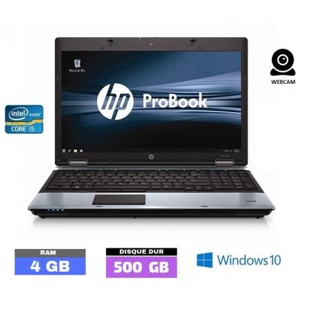 HP PROBOOK 6550B - Windows 10 - GRADE D - HDD 500 Gb - Core I5 - Ram 4 Go - N°061510