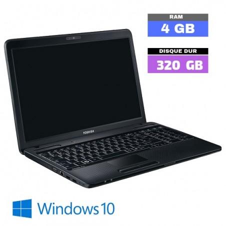 Toshiba Satellite Pro C660 - CELERON -  Windows 10 - RAM 4 Go - SSD250 - Webcam - N°092310