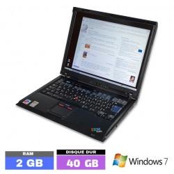 IBM THINKPAS R51E Sous Windows 7 - Ram 2 Go  N° 101101 photo 1