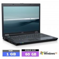 HP NC6120 Sous Windows XP...