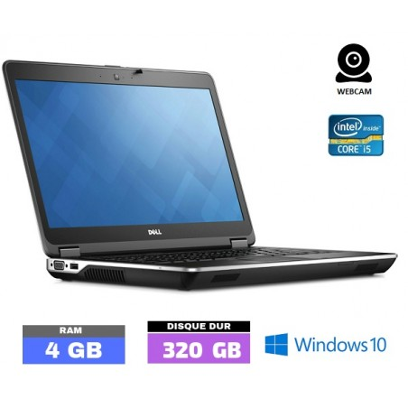 DELL E6440 Core I5 Sous Windows 10 -  WEBCAM - HDD 320 Gb - Ram 4 Go- N°0106-20