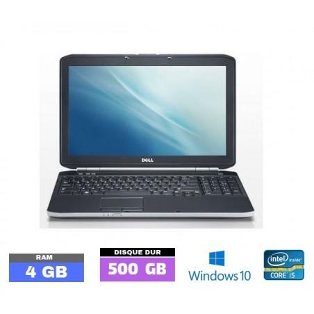 DELL E5520 Core I5 Windows 10 - Ram 4 Go- N°042850