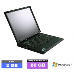 LENOVO R60e sous Windows 7 PRO - Ram 2 Go- N°111602  photo 1