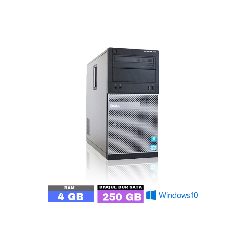 UC DELL OPTIPLEX 390 Sous Windows 10 - Core I5 - Ram 4 Go - N° 032410