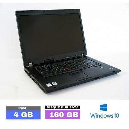 LENOVO THINKPAD R61 sous Windows 10 - Ram 4 Go- N°032801