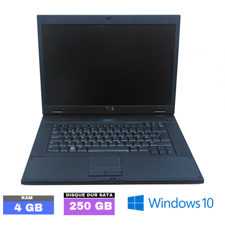 DELL LATITUDE E5500 Sous Windows 10 - HDD 250 Go - Ram 4 Go - N°032804
