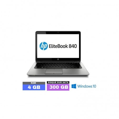 HP Elitebook 840 G1 Core i5 - 4Go RAM  sous Windows 10  - N°040902