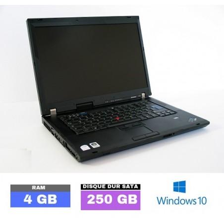 LENOVO THINKPAD R61 sous Windows 10 - Ram 4 Go- N°041502