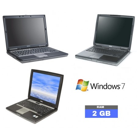 Lot de 3 Pc Portable DELL sous Windows 7 - Ram 2 Go
