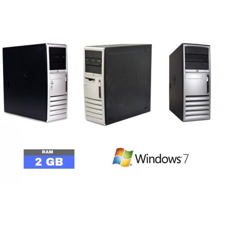 Lot de 3 UC HP COMPAQ DC7700 Sous Windows 7 - 2Go RAM - N°090610
