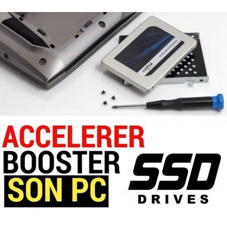 Installation SSD à la place Disque dur Sata - ref : REPSSD01 (Prestation atelier)