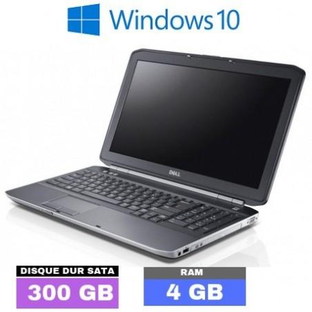 DELL LATITUDE E5530 Sous Windows 10 - Core I5 - HDD 320 Go - Ram 4 Go - N°092301