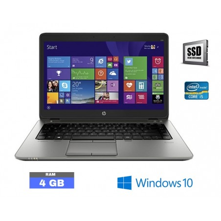 HP Elitebook 840 G2 Core i5 - 8Go RAM - SSD - Windows 10  - N°110740