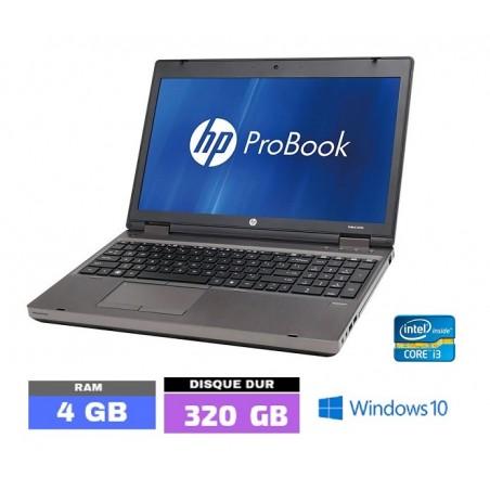 HP PROBOOK 6560B Sous Windows 10 - Core I3 -Ram 4 Go - N°111901