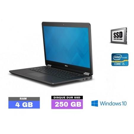 DELL E7450 - Windows 10 - SSD- Core I5 - Ram 4 Go - N°101710