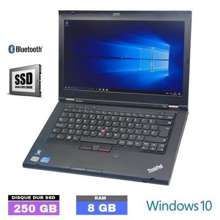 LENOVO T430S Core I5 - SSD 250 GB - Ram 8 Go - WEBCAM - Windows 10 - N°120201