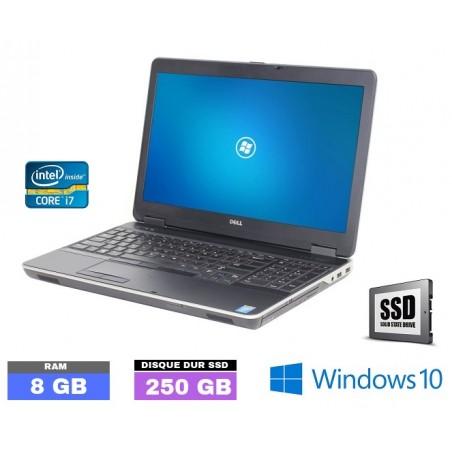 DELL LATITUDE E6540 Core I7 - SSD - Windows 10 - Ram 8 Go  - N°090440