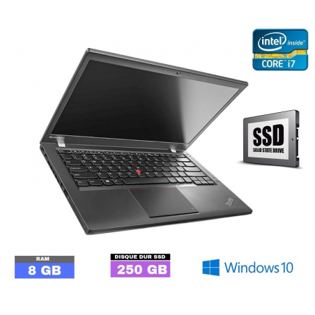 LENOVO T440 Core I7 - Windows 10 - SSD - Ram 8 Go- N°011370