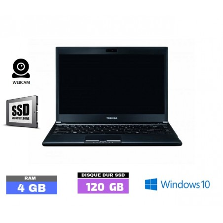 TOSHIBA PORTEGE R930  Core I5 - Windows 10 - SSD - Ram 4 Go  N° 020350
