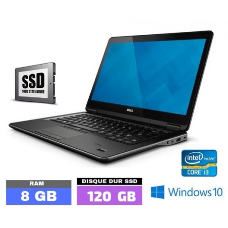 DELL E7440 Core I3 - Windows 10 - SSD - Ram 8 Go- N°0403-20