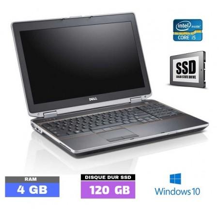 DELL E6230 - Windows 10 - SSD - Core I5 - Ram 4 Go  N°031601
