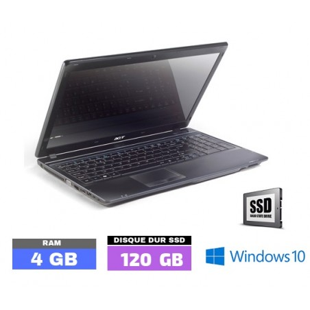 ACER TRAVELMATE 4740 - Windows 10 - SSD - Ram 4 Go- N°033110
