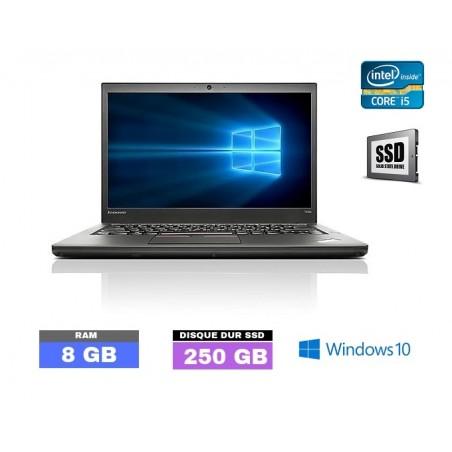 LENOVO T450 Core I5 - Windows 10 - SSD - Ram 8Go - N°040530