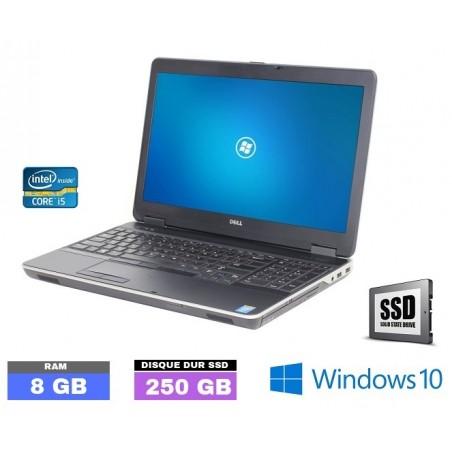 DELL LATITUDE E6540 Core I5 - SSD - Windows 10 - Ram 8 Go  - N°051401