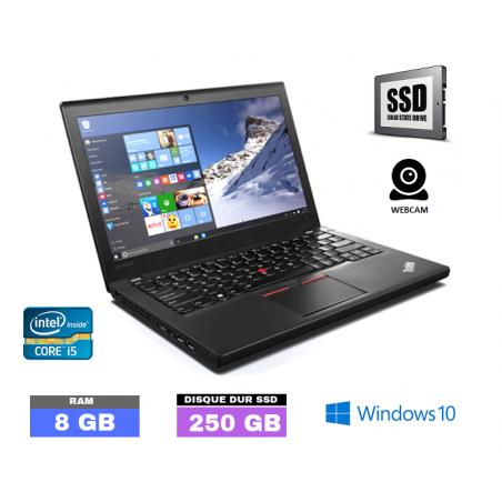 LENOVO X260 Core I5 6E GENERATION - Sous Windows 10 - SSD 250 Go- Ram 8 Go - N°040550