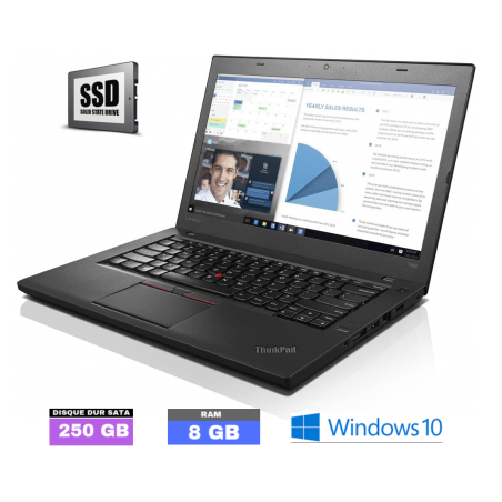 LENOVO T460 - Core I5 6EME GENERATION - Windows 10 - SSD 250 - Ram 8Go - N°070302