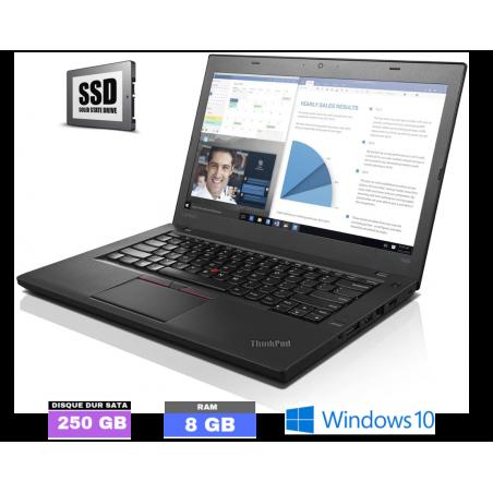 LENOVO T460 - Core I5 - Windows 10 - SSD - Ram 8Go - N°070302