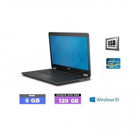 DELL E7450 - Windows 10 - SSD- Core I5 - Ram 8 Go - N°090302 - Grade D
